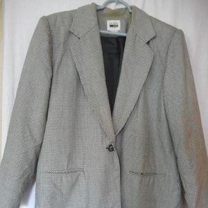 Vintage Leslie Fay Houndstooth Blazer Size 14